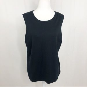 NWT Croft & Barrow Sleeveless Tank, Size XL, Black